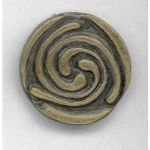 Contemporary celtic swirl brooch
